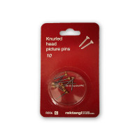 Recktangle Picture Pins Hanging Pack of 10