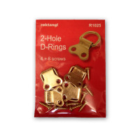 Recktangle Double D-Rings, Hanging Pack of 4 and Screws