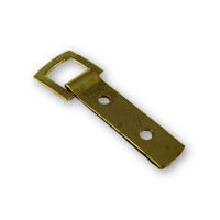Strap Hanger, Brass Plated, 2-Hole
