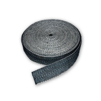 Webbing Cotton and Jute 50mm Black and White 33m Roll