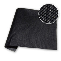 Black 4 oz PU Coated Nylon 59 in / 150 cm