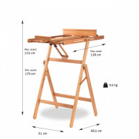 Museo Easel Barcelona Adjustable Horizontal Tilting Easel