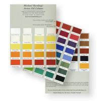 Michael Harding artists' Oil Colour Handmade Chart