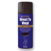 Rustoleum 400ml Areosol Direct To Vinyl Black Gloss