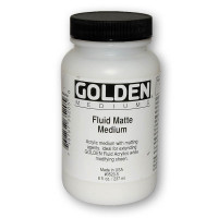 Golden Matte Medium Fluid