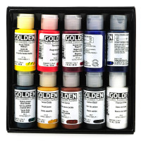 Golden Professional Fluid Acrylic Set of 10 x 30ml