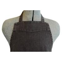 Apron Gunmetal Linen