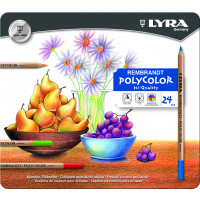 Lyra Rembrandt Polycolor Metal Box 24